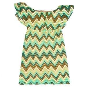 Judith March Sz M Crochet Chevron Strapless Dress